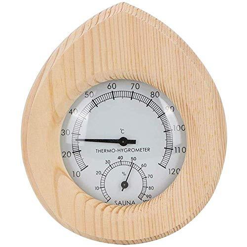 N\C 2-in-1 Thermo-Hygrometer, Tropfenform, Holzthermometer, Temperatur, Luftfeuchtigkeitsmesser, Sauna, Dampf, Raumzubehör