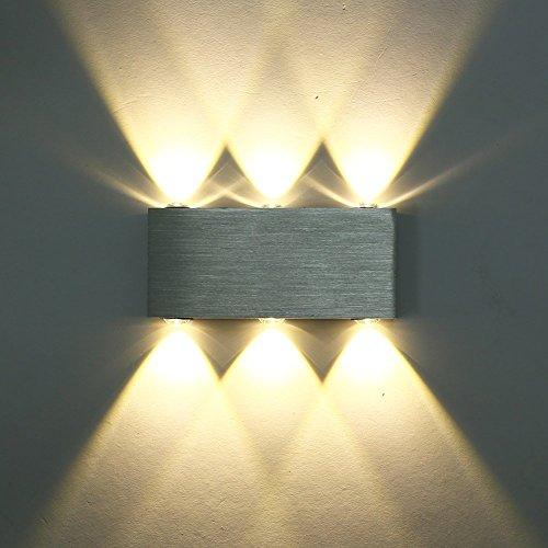 Moderne Wandleuchte aus Aluminium, für Wohnzimmer, Schlafzimmer, 6LED, 6W Modern 6w-warm White