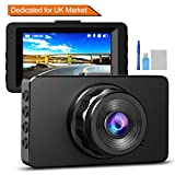 Dash Cam 1080P Full HD Dashcams for Cars DVR Dash Camera WDR Video Recorder in Car Camera Dash Cam with Super...