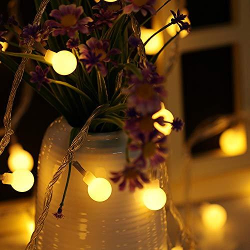 Lichterketten, Fee Lampe, Warmes Weiß, Dekorative LED-Leuchten for Weihnachten, Hochzeit, Geburtstag, Weihnachtsfeier Drinnen Und Draußen Mädchen Schlafzimmer, Party, Hochzeit, Weihnachtsb