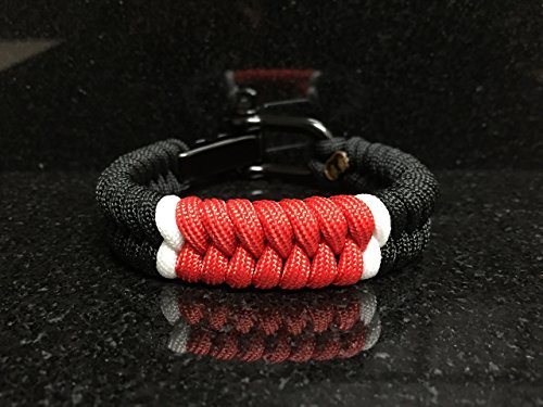 Brazilian Jiu Jitsu Black Belt Rank Paracord Bracelet.
