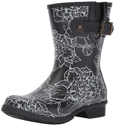 Chooka Women's Rain Boot's Mid-Height Printed Memory Foam, Cora, 6 M US