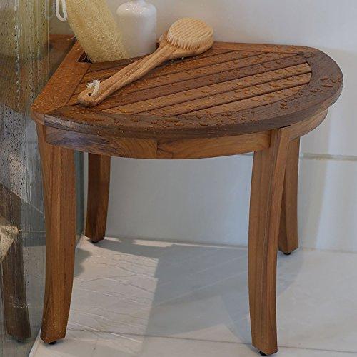 Cuarto de baño–Taburete de madera de teca 64x 58x 44cm