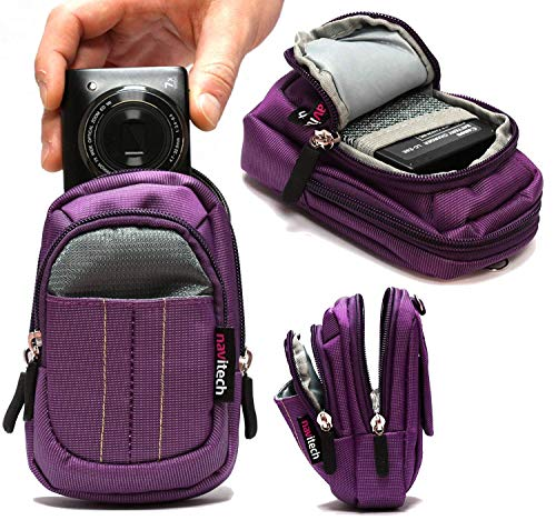 Navitech Purple Digital Camera Case Compatible with Nikon COOLPIX S33 Waterproof Digital Camera