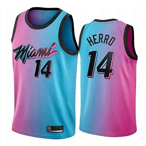 YDYL-LI Camiseta de baloncesto All-Star para uniforme, camiseta térmica 14 # Tyler Herro Fans Sudaderas de entrenamiento para hombres, adolescentes y niños, transpirable, S