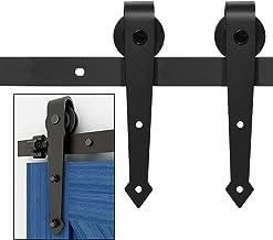 Industrieel Schuifdeursysteem Schuifdeurenbeslag mat zwart - Complete set met hangrollen en rail - 180 cm Schuifdeur Syste...