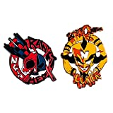 Pin Kings Official Crash Bandicoot Cortex and N Gin Collectible Metal Enamel Pin Badges - Set of Two Enamel Pins on a Backing Card - Official Merchandise