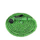 Aufun Gartenschlauch Flexibler 45m 150FT Dehnbarer Flexischlauch Flexi Wasserschlauch Flexibel Multisfunktionsbrause mit 7 Funktionen für Garten (Grün, 45m)