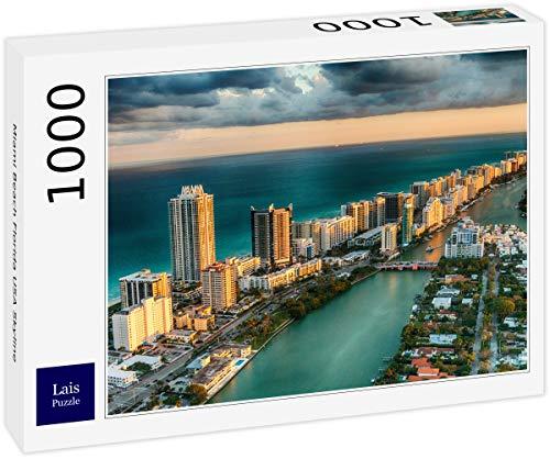 Lais Puzzle Miami Beach Florida USA Skyline 1000 Teile