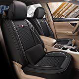 Big Ant Car Seat Covers Full Set, Custom Fit Seat Covers for Toyota RAV4 2019 2020 2021, Faux Leather Seat Cushion Covers Compatible Airbag Rav4 Seat Protector (Bonus 2 Lumbar Pillows, Black)