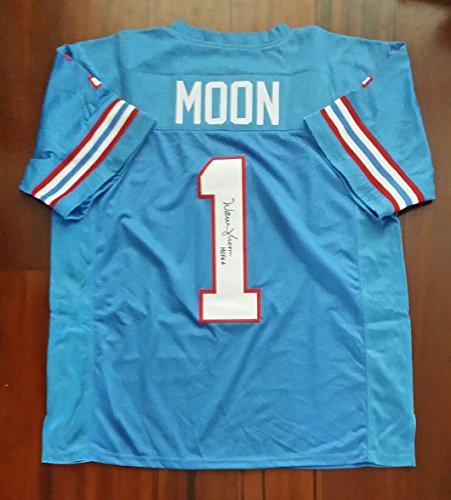 Warren Moon Autographed Signed Jersey Houston Oilers JSA