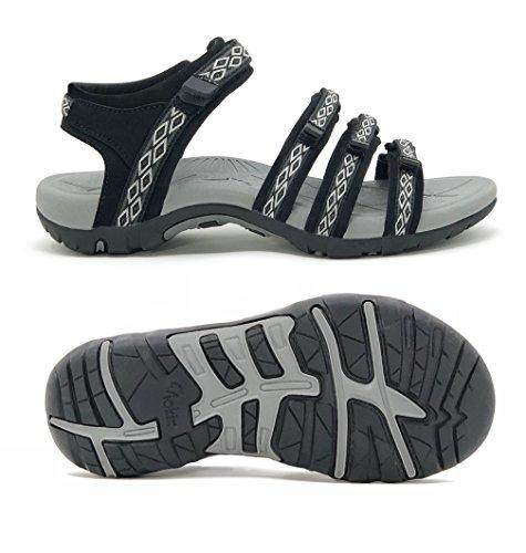 Viakix Hiking Sandals Women- Athletic Sport Sandal for Outdoors Walking Water