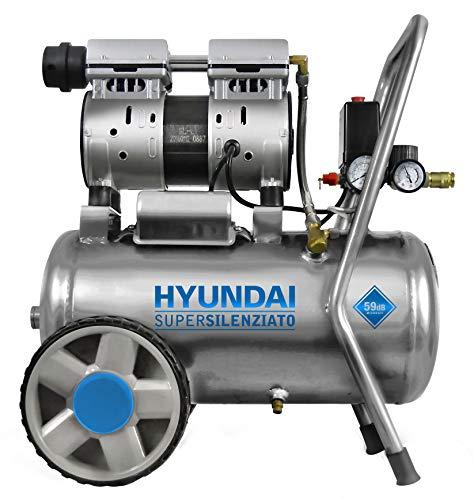 Compressore a secco HYUNDAI SILENZIATO 59 dB da 24 Litri