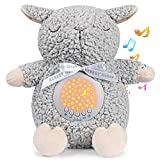 BEREST Baby Sleep Soother Sleepy Sheep, Mom's Heartbeat Lullabies & Shusher Baby Sound Machine, Nursery Decor Night Light Projector, Toddler Crib Sleeping Aid, Baby Shower Gifts Portable Sheep