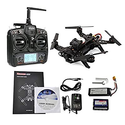 Walkera Runner 250 Racing Drone RTF with Devo 7, FPV Camera, Video Transmitter and OSD(Exclude GPS) from Walkera