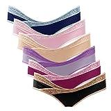 Intimate Portal Women Under The Bump Maternity Panties Pregnancy Postpartum Underwear 6 Pack Lace Multicolor Medium