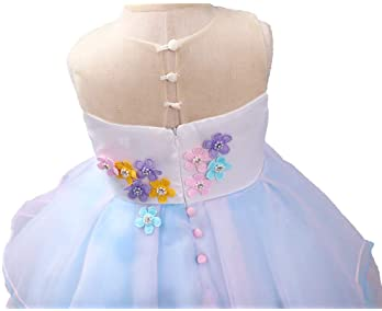 BanKids Unicorn Dress For Girls Unicorn Costume Pageant Princess Party Dress with Unicorn Headband For Girls 3-10 Years