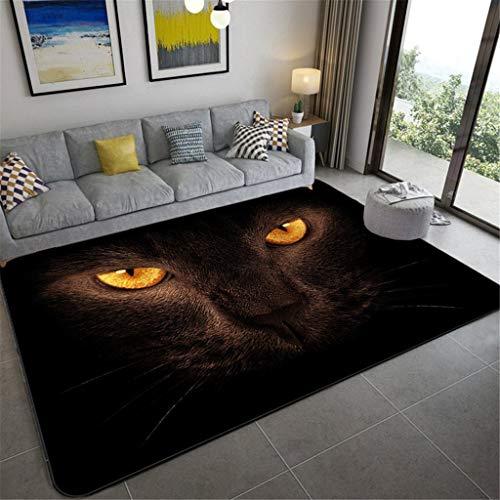 asfrata265 Alfombra Moderna Antideslizante Tigre 3D con Ojos Creativos