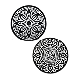 VAVA Metallplättchen Set für Auto Handyhalterung Magnet 2 Kreisen Metallscheibe Rostfreies Eisenmaterial Feste Klebkraft für die meisten Handys wie iPhone