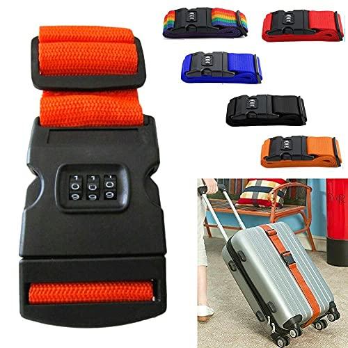 FAST WORLD SHOPPING  Cinghia Per Valigia Cintura Con Combinazione Numerica Cinta Sicurezza Bagagli Trolley
