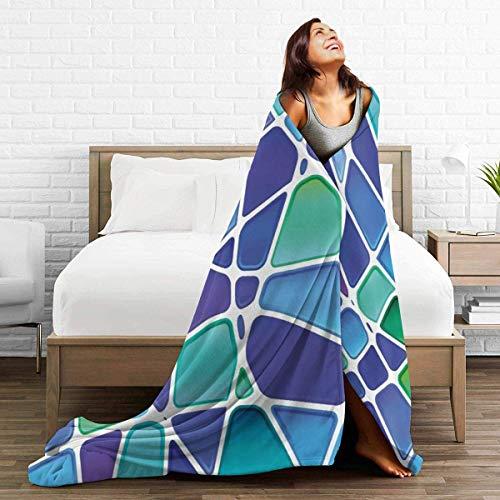AEMAPE Manta de Tiro, Alfombra mullida de mármol Verde Azulado, Cama de Camping para Mujeres, Lujosa Alfombrilla para Dormir, Cubierta de Franela para Invierno de 50 'x 60'