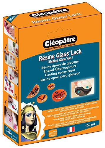 Cleopatre - LCC21-150-E1 - Glass'Lack - Resina epoxi para glasear, 150 ml