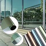 KINLO - Lámina de protección solar para ventana, antirrayos UV, autoadhesiva, sin pegamento,...