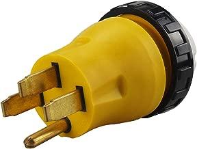 RV Adapter 50 Amp 14-50P Male to 50 Amp Power Shore Nema SS2-50R Female Adapter with Locking Ring, (Nema 14-50P to Nema SS2-50R) RV Power Adapter