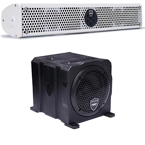 """Wet Sounds Stealth Package - White Stealth 6 Ultra 200 Watt Sound Bar and AS-6 6"""" 250 Watt Powered Stealth Subwoofer"""