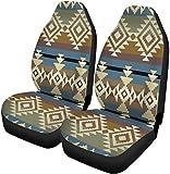 Fundas para asientos de automóvil Aztec Navajo Inspired Geometric Pattern Native Abstract Ancient Set de 2 protectores Accesorios para interiores de automóviles Ajuste universal para la mayoría de lo