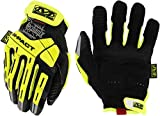 Mechanix Wear: Hi-Viz M-Pact E5 Work Gloves (Large, Fluorescent Yellow)