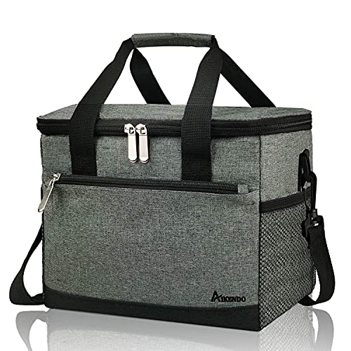 10L(12-Can) Insulated Lunch Cooler Bag for Men Women,Leakproof Large Lunch Box for School Work Office Picnic Beach,Soft Freezable lunchbox Cooling Tote Bag Organizer for Adult & Kids
