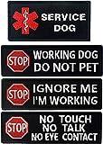 Parches de servicio para perro sin tocar, no hablar, ignore Me I'm Working, Do Not Pet tácticos militares morales bordados con cierre de gancho y bucle en la parte trasera