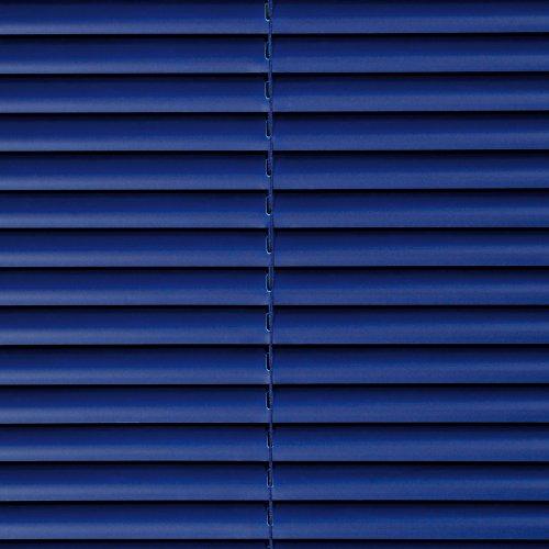 Liedeco Jalousie aus Kunststoff, 160 cm Länge, Kunststoff-Jalousie orientblau B 80 cm