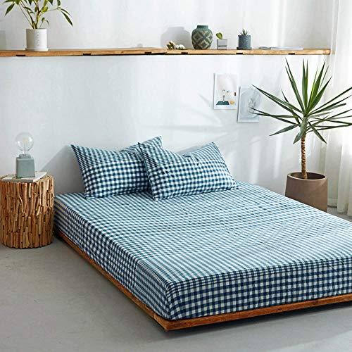 DSman Protector de colchón/Cubre colchón Acolchado, antiácaros, Sábana de algodón de una Sola Pieza Color sólido-24_120 * 200cm