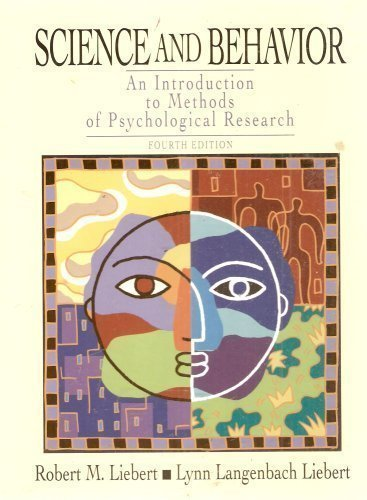 Science and Behavior - an Introduction to Methods of Psychological Research