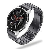 Fintie Correa Compatible con Samsung Galaxy Watch 46mm / Gear S3 Classic/Gear S3 Frontier - 22mm Pulsera de Repuesto de Acero Inoxidable de Liberación Rápida, Negro