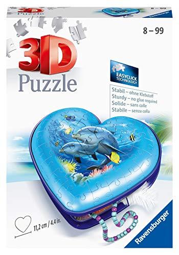 Ravensburger 11172 Herzschatulle Unterwasserwelt Puzzle, Mehrfarbig