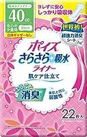 日本製紙 ポイズ さらさら吸水ライナー 安心の少量用(立体ギャザーなし)22枚 x1個 Japan