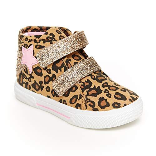 Carter's Girls' Teddy Sneaker, Print, 12 M US Little Kid