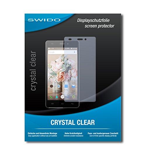 SWIDO Schutzfolie für Doogee X5 [2 Stück] Kristall-Klar, Hoher Festigkeitgrad, Schutz vor Öl, Staub & Kratzer/Glasfolie, Bildschirmschutz, Bildschirmschutzfolie, Panzerglas-Folie