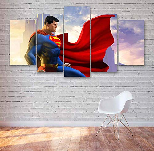 KOPASD 5 Piezas Pintura De Pared Sala De Estar De Arte Cómics Super Hero Movie Caracteres HD Print De Decoración para El Hogar para (Enmarcado Tamaño 150x80cm)