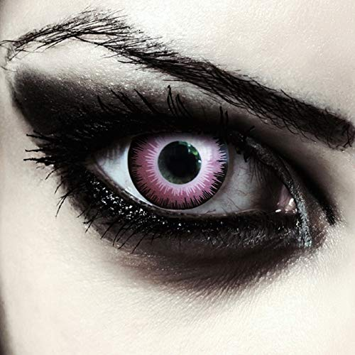 Pinke farbige Elfen Kontaktlinsen ohne Stärke für Halloween Farblinsen in pink Model: Pink Elfe + gratis Kontaktlinsenbehälter