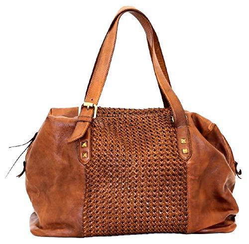 BZNA Bag Serena cognac Italy Designer Damen Handtasche Ledertasche Schultertasche Tasche Leder Shopper Neu