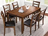 LALUZ 7 Piece Dining Table Set, Modern Solid Wood Kitchen Furniture with 6 Back...