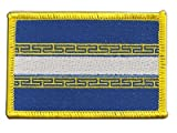Aufnäher Patch Flagge Frankreich Marne - 8 x 6 cm