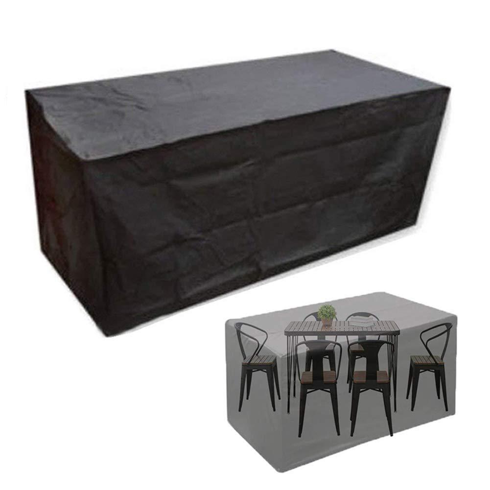 Barture Fundas para Muebles De Jardín Juego De Patio Cubierto Impermeable Grande Rectangular Funda Protector para Mesa (Size : 135×135×75CM): Amazon.es: Hogar