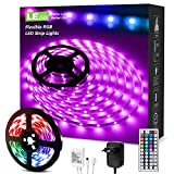 LE LED Tiras de Luces RGB 5M, 150 SMD 5050 Cinta LED, Multicolor y Regulable, Strip Tiras Con Mando a Distancia y Adaptador Corriente Luce de LED Para TV, Fiestas, Luz Ambiental y etc