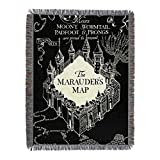 Harry Potter, 'Night Map' Woven Tapestry Throw Blanket, 48' x 60', Multi Color