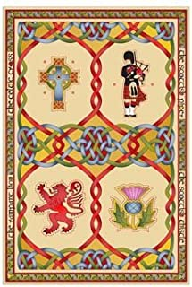 Single Tea Towel Scottish Weave